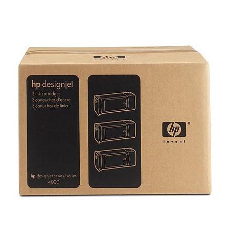 Pack 3 Tinteiros Originais HP 90 Amarelo (C5085A)