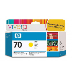 HP 70 130 ml Yellow Ink Cartridge with Vivera Ink