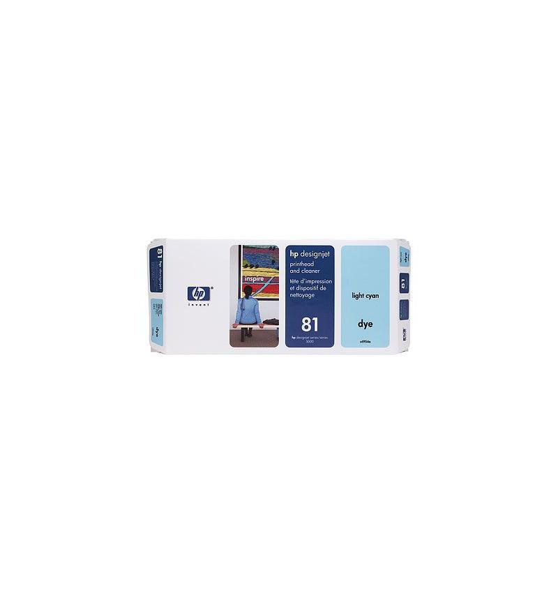 Cabeça de Impressăo HP No.81 Dye Light Cyan - preço válido p/ unidades pré-estabelecidas para a pro