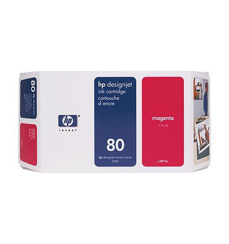 Tinteiro Original HP Nº80 DESIGNJET 1050C/1055C 350ml Magenta C4847A