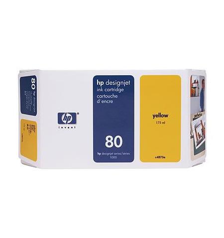 Tinteiro Original HP Nº80 DESIGNJET 1050C/1055C 350ml Amarelo C4848A
