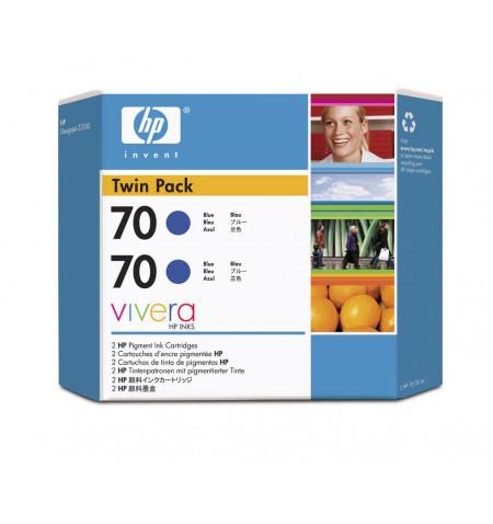 Tinteiro Original HP 70 Azul 2xPack CB349A