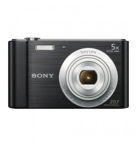 "Sony Cyber-shot W800 Preta - Sensor CCD 20.1 MP, ecră 2.7"" - DSC-W800B"